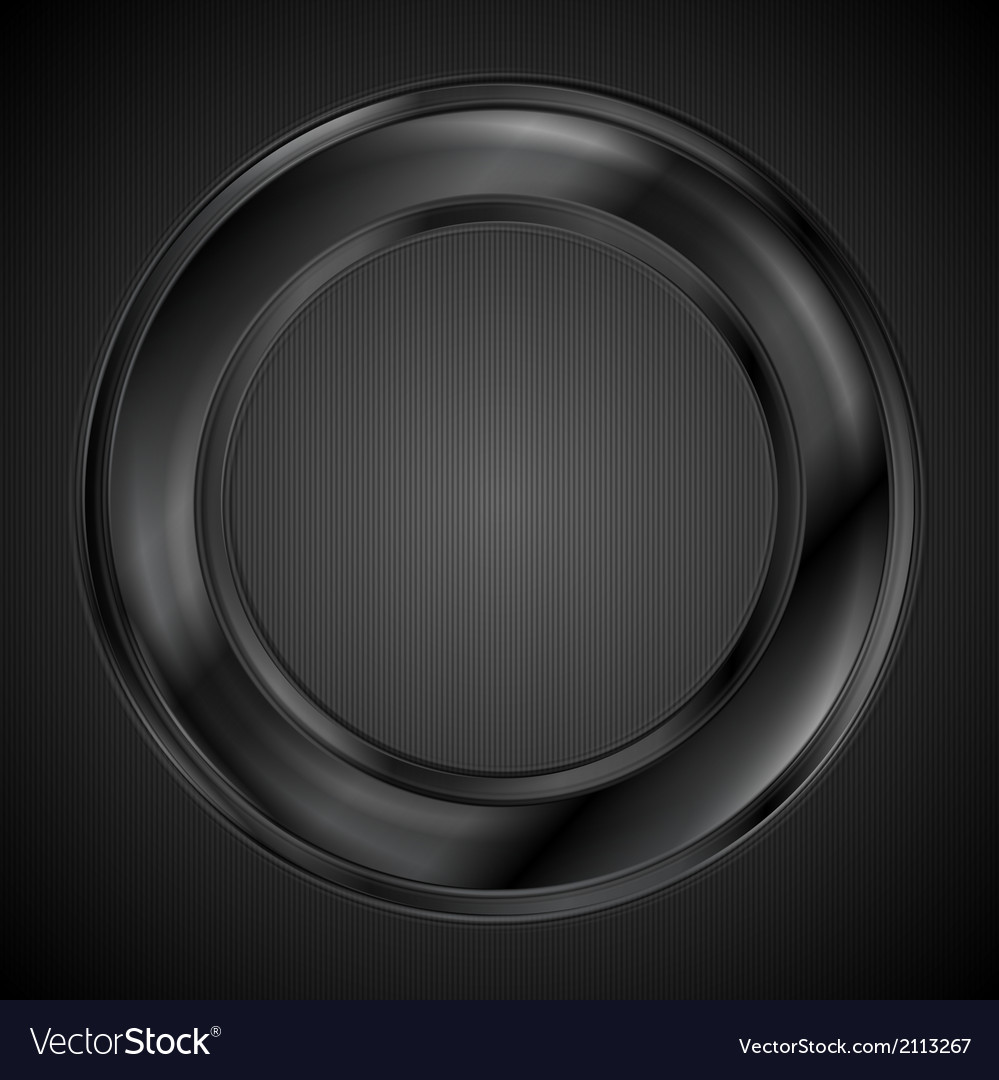 Abstract black ring logo vector | Price: 1 Credit (USD $1)