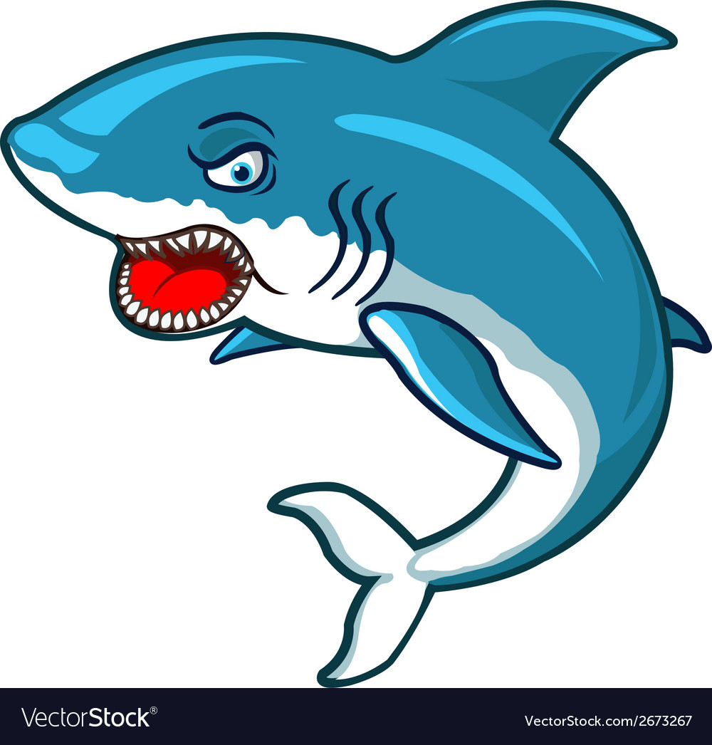 Angry shark vector | Price: 1 Credit (USD $1)