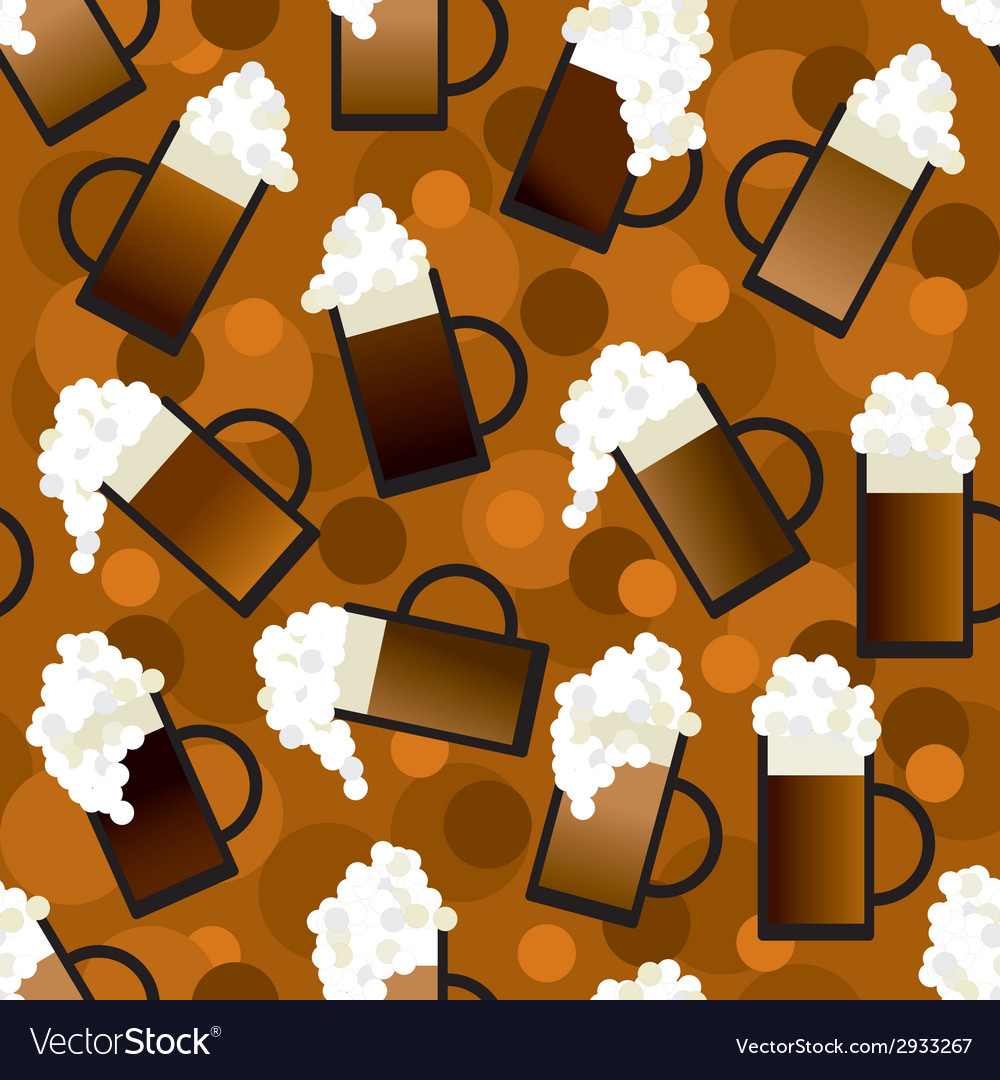 Beer pattern vector | Price: 1 Credit (USD $1)