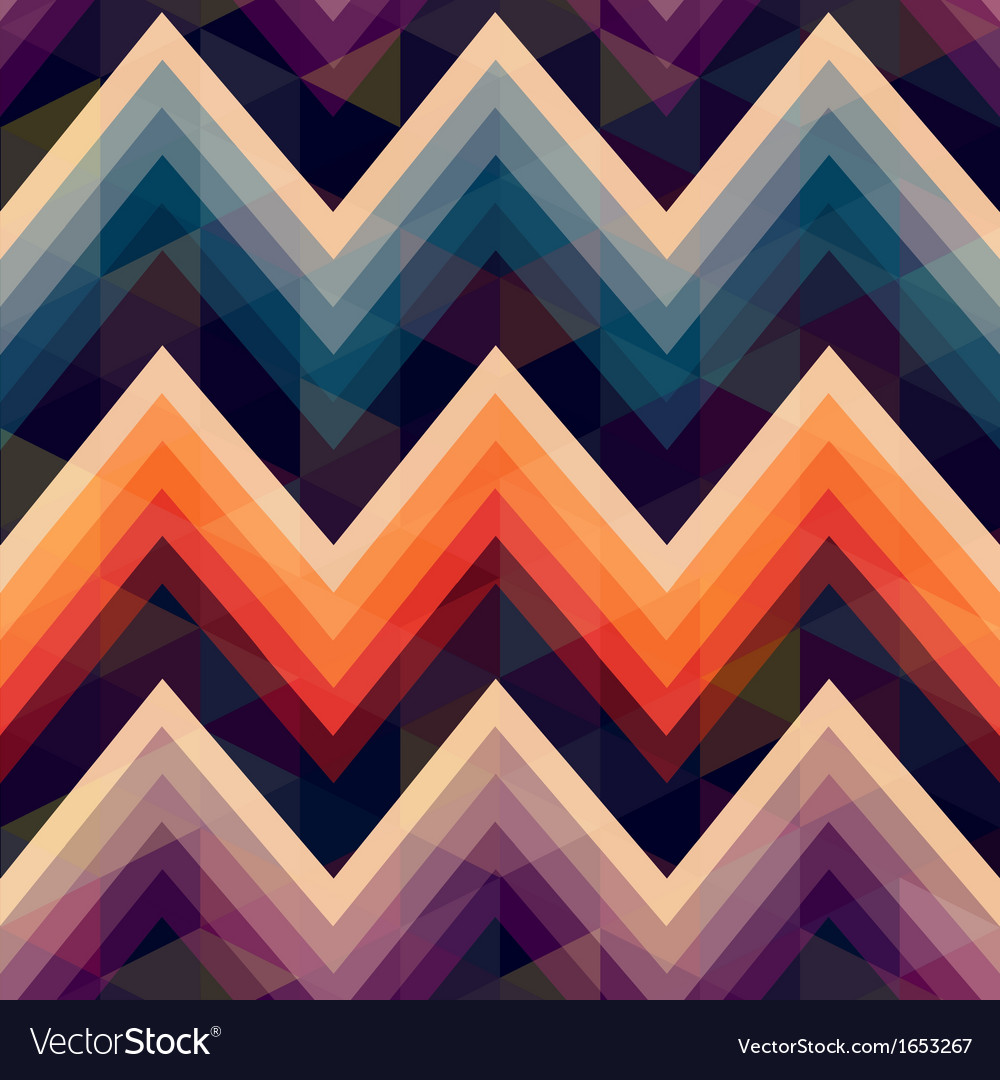Colorful seamless zig zag pattern vector | Price: 1 Credit (USD $1)