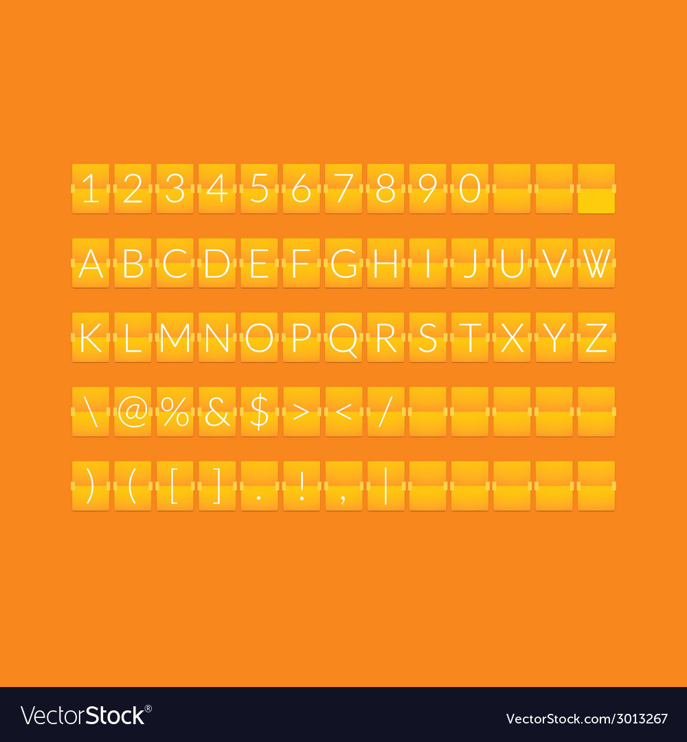 Flat orange paper countdown timer vector | Price: 1 Credit (USD $1)