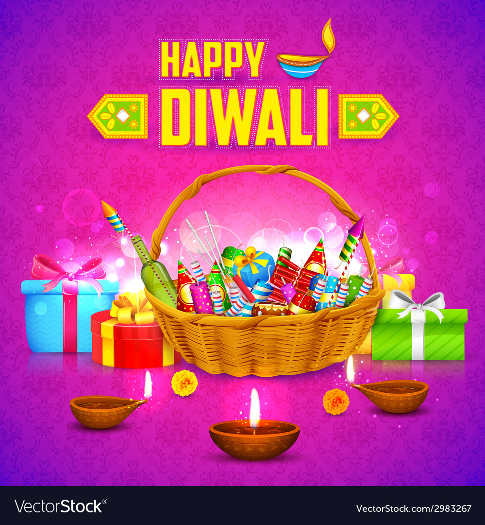 Happy diwali background vector | Price: 3 Credit (USD $3)