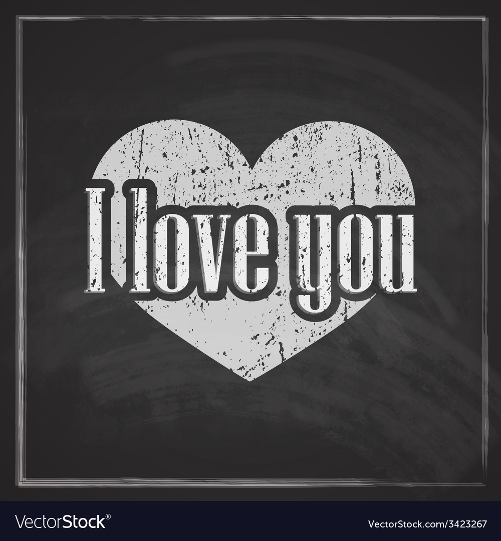 I love you abstract vintage background with vector | Price: 1 Credit (USD $1)