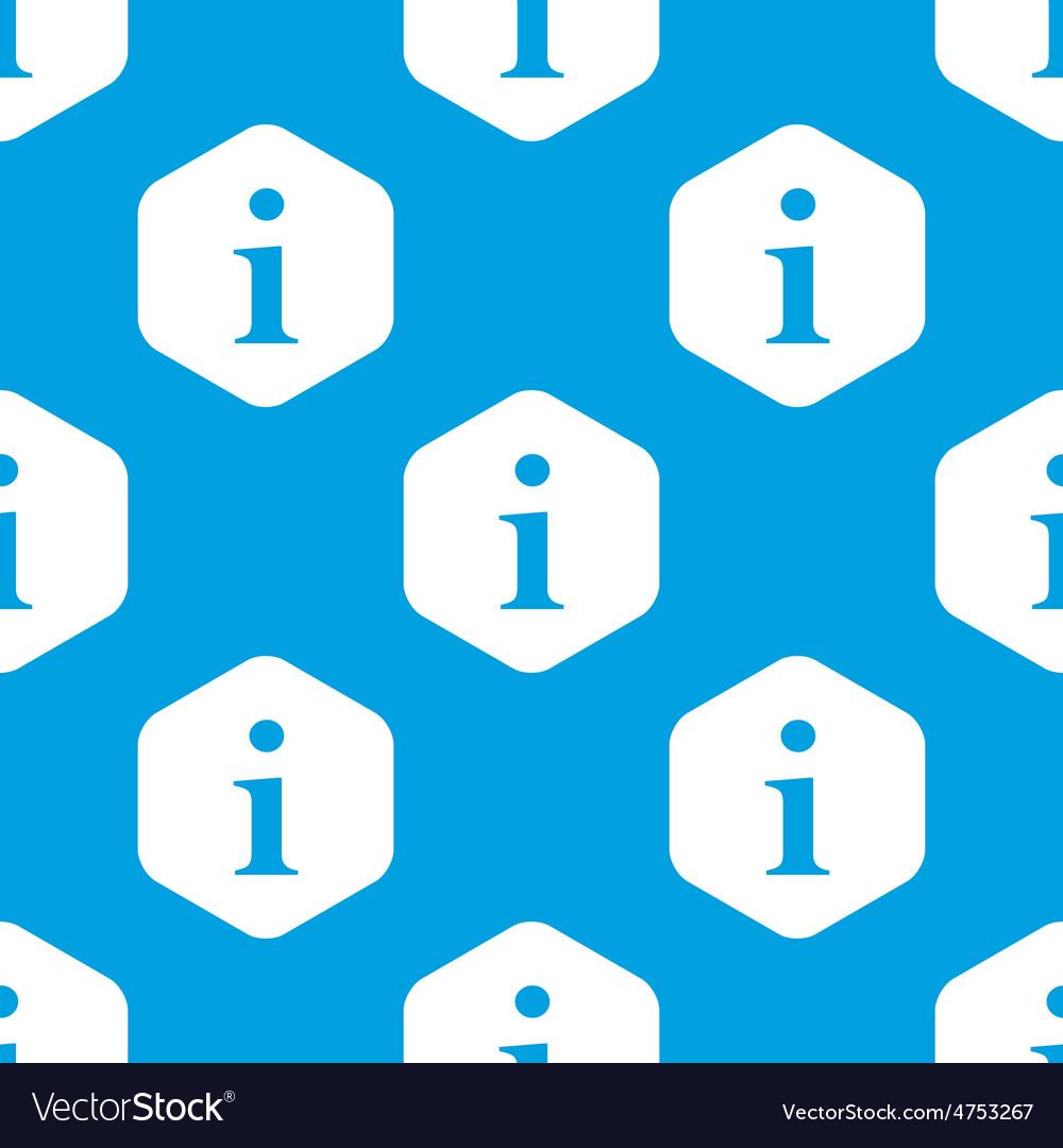 Information hexagon pattern vector | Price: 1 Credit (USD $1)