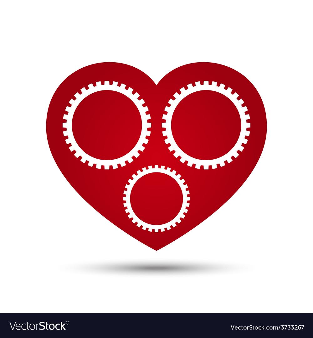 Love heart gear vector   Price: 1 Credit (USD $1)
