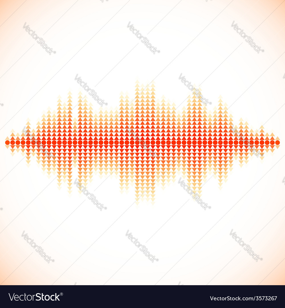 Red sound waveform with triangular arrows vector | Price: 1 Credit (USD $1)