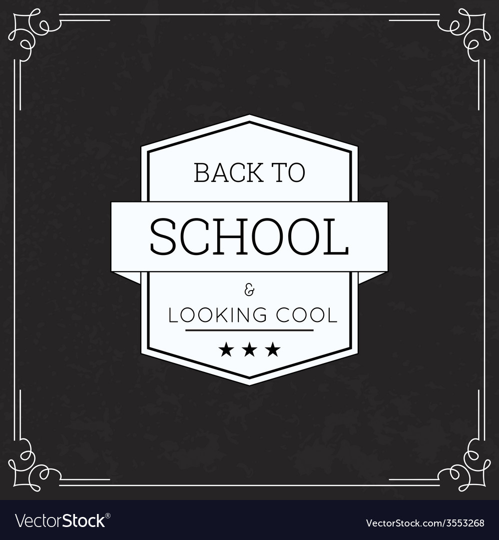 Back to school and looking cool vector | Price: 1 Credit (USD $1)
