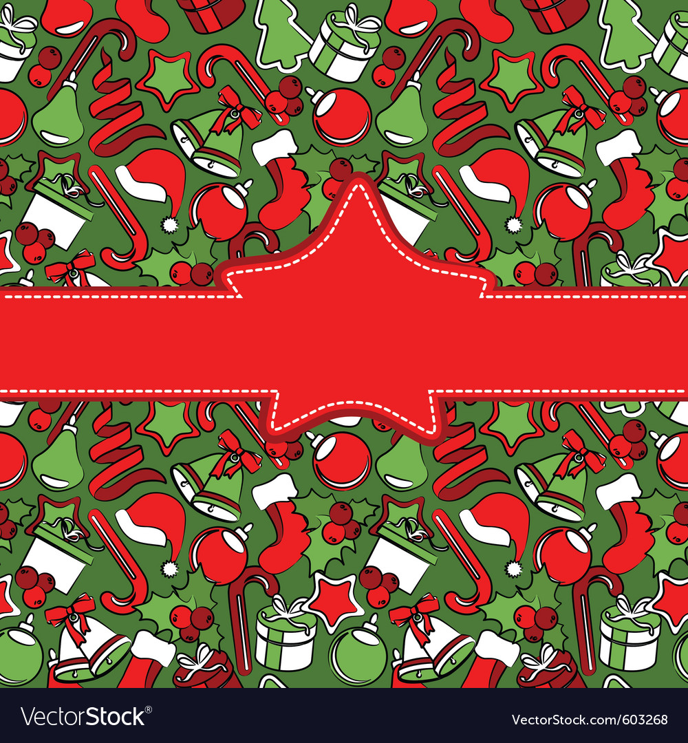 Creeting card with christmas decoration vector | Price: 1 Credit (USD $1)