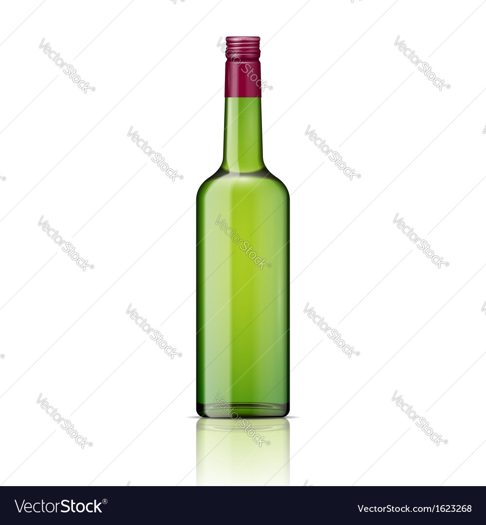 Glass whiskey bottle with screw cap vector | Price: 1 Credit (USD $1)