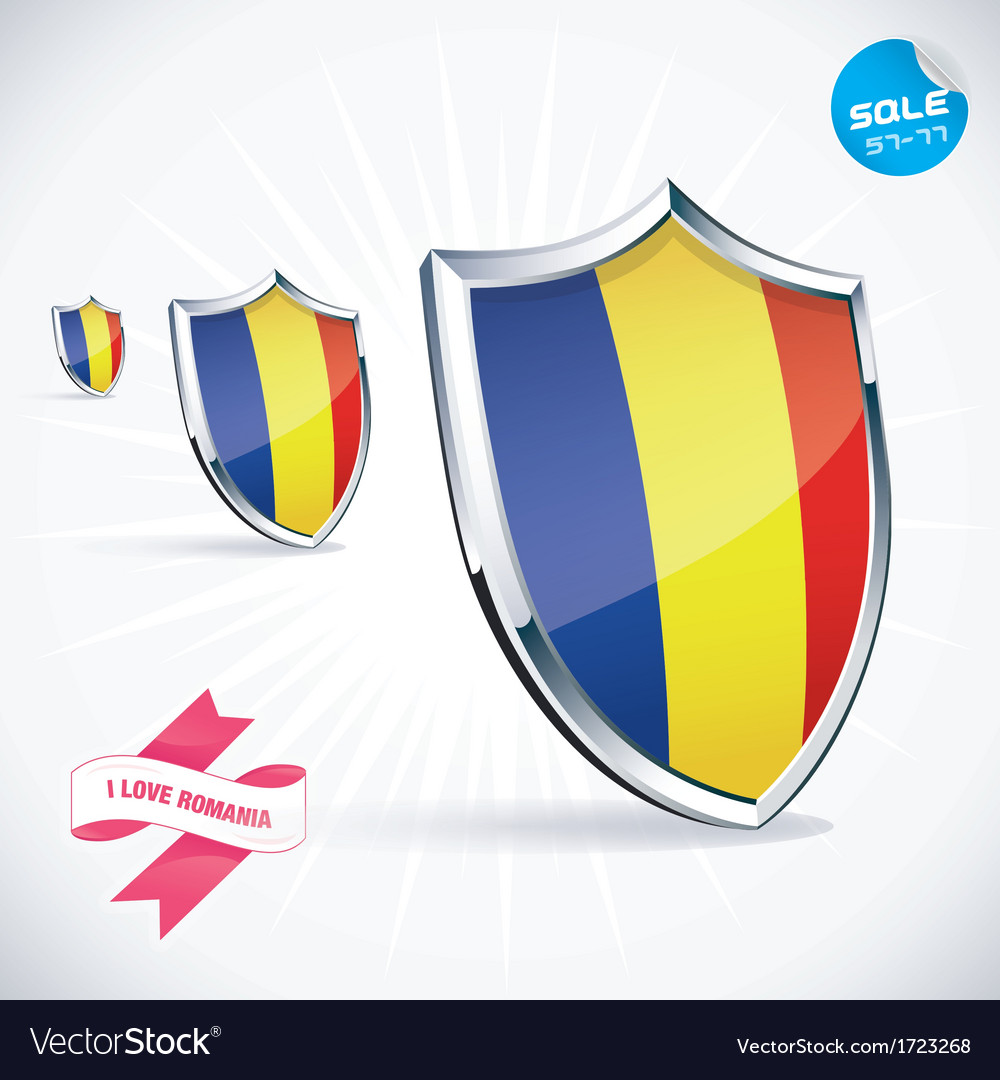 I love romania flag vector | Price: 1 Credit (USD $1)
