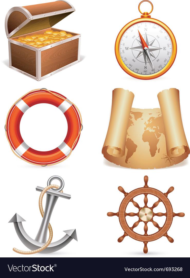 Marine icons vector | Price: 3 Credit (USD $3)