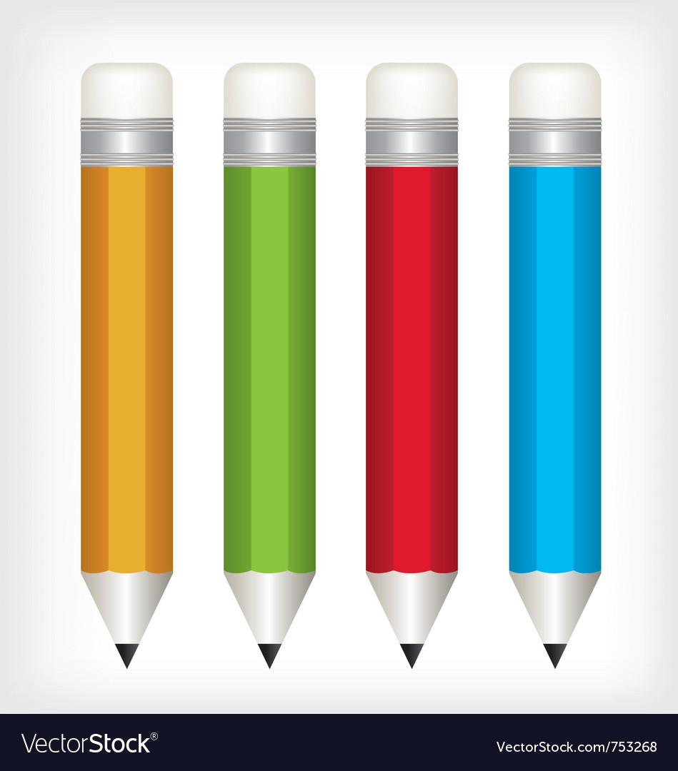 Pencil color vector | Price: 1 Credit (USD $1)