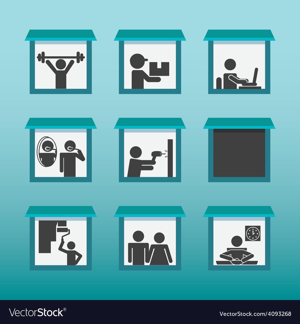 People activities design vector | Price: 1 Credit (USD $1)