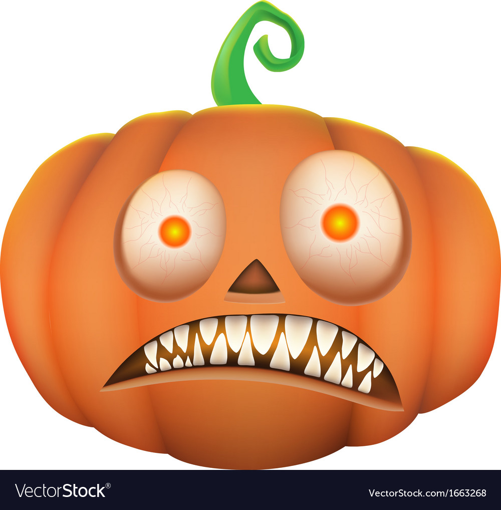 Pumpkin scary on white background vector   Price: 1 Credit (USD $1)