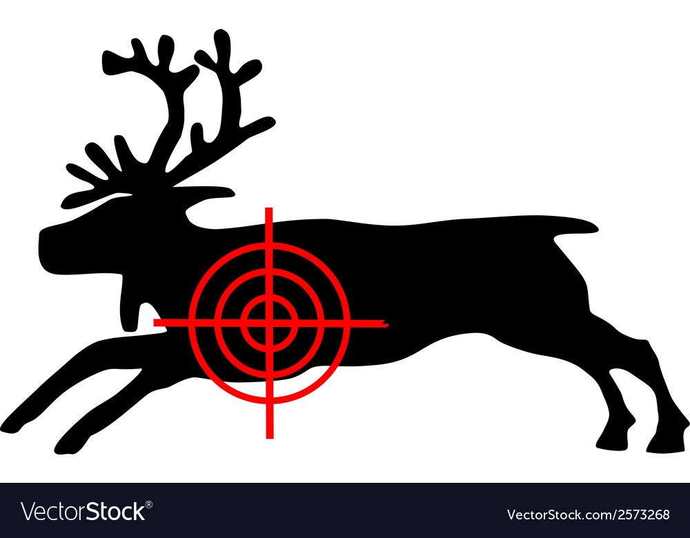 Reindeer crosshair vector | Price: 1 Credit (USD $1)