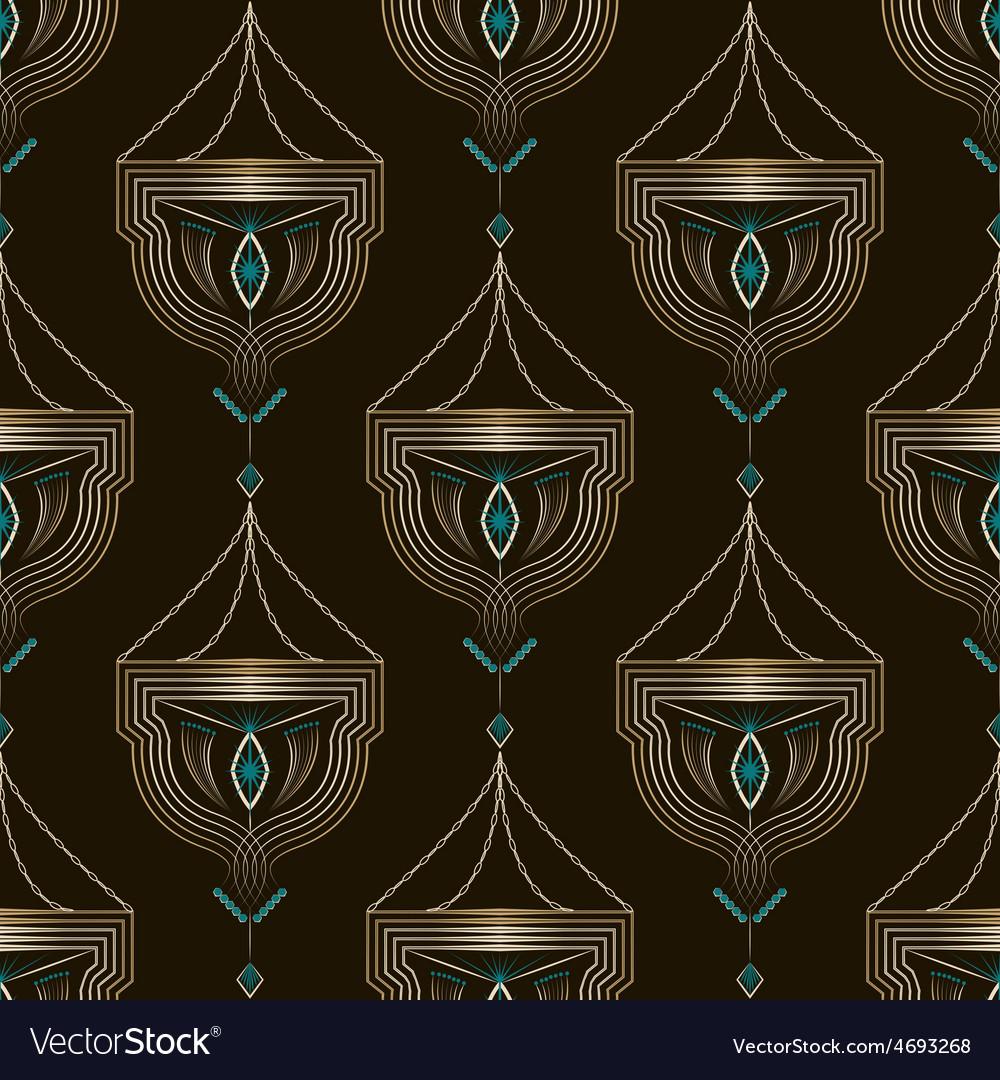 Seamless beautiful antique art deco pattern vector | Price: 1 Credit (USD $1)