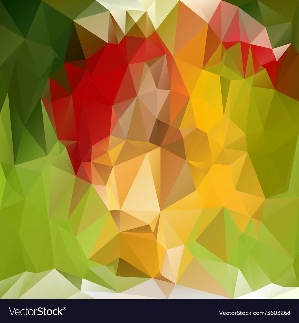 Spring green polygonal triangular pattern vector | Price: 1 Credit (USD $1)