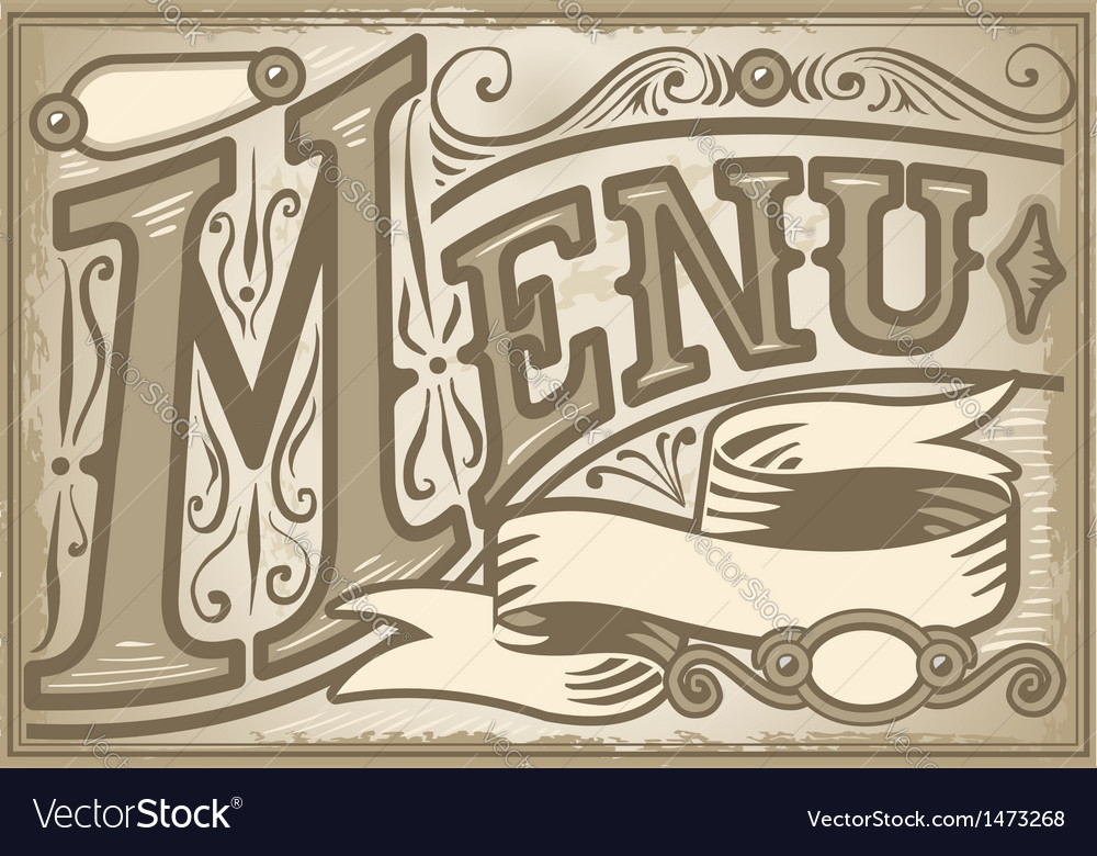 Vintage graphic element for menu vector | Price: 1 Credit (USD $1)