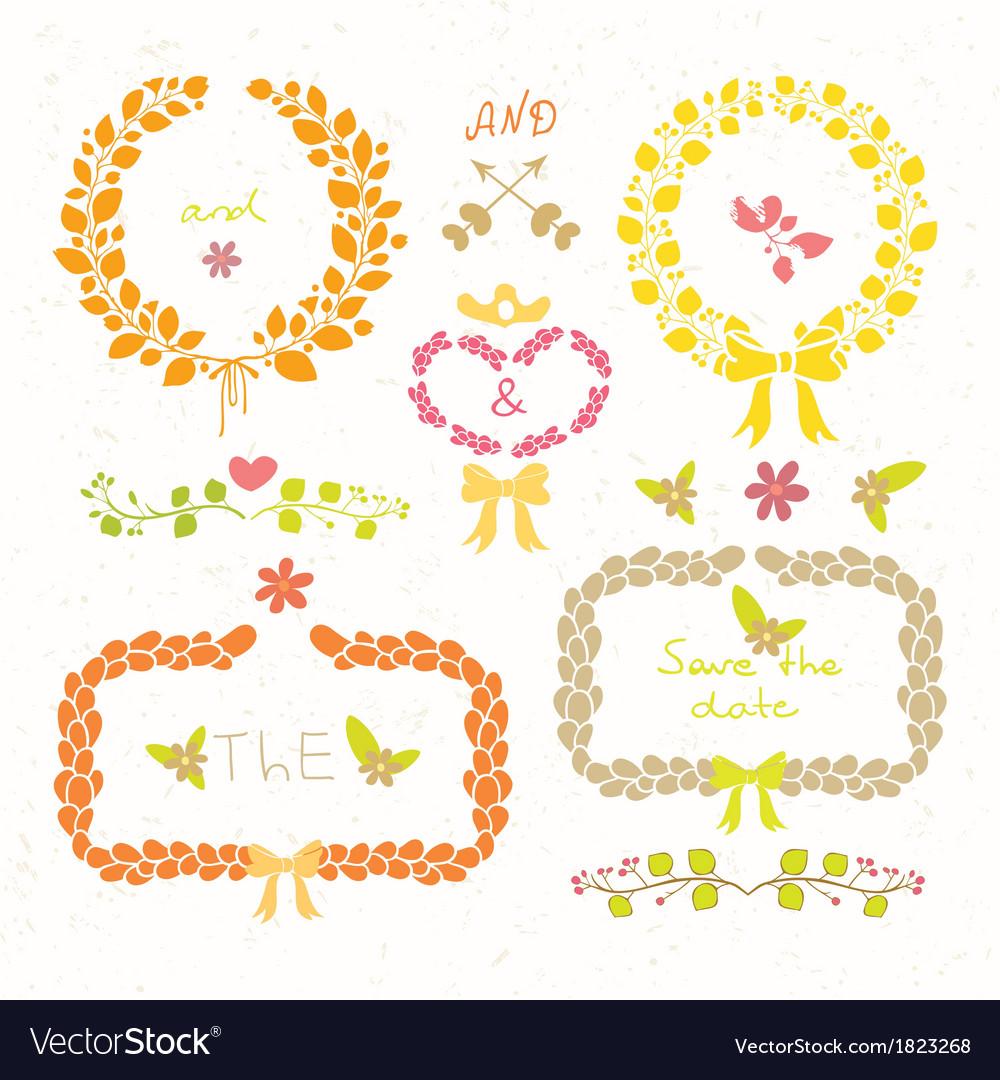 Wedding romantic set vector | Price: 1 Credit (USD $1)