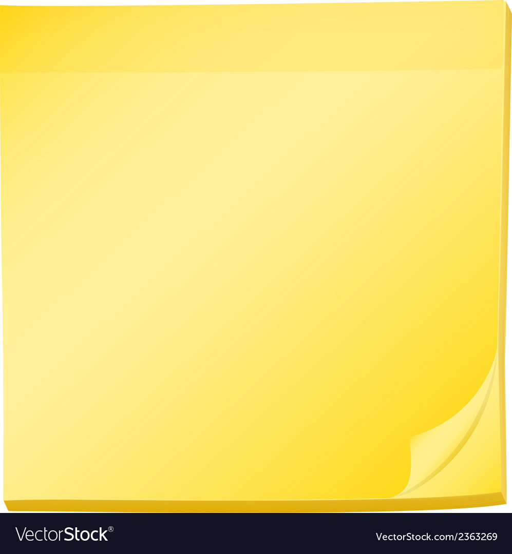 A topview of a pad of yellow post-it vector | Price: 1 Credit (USD $1)