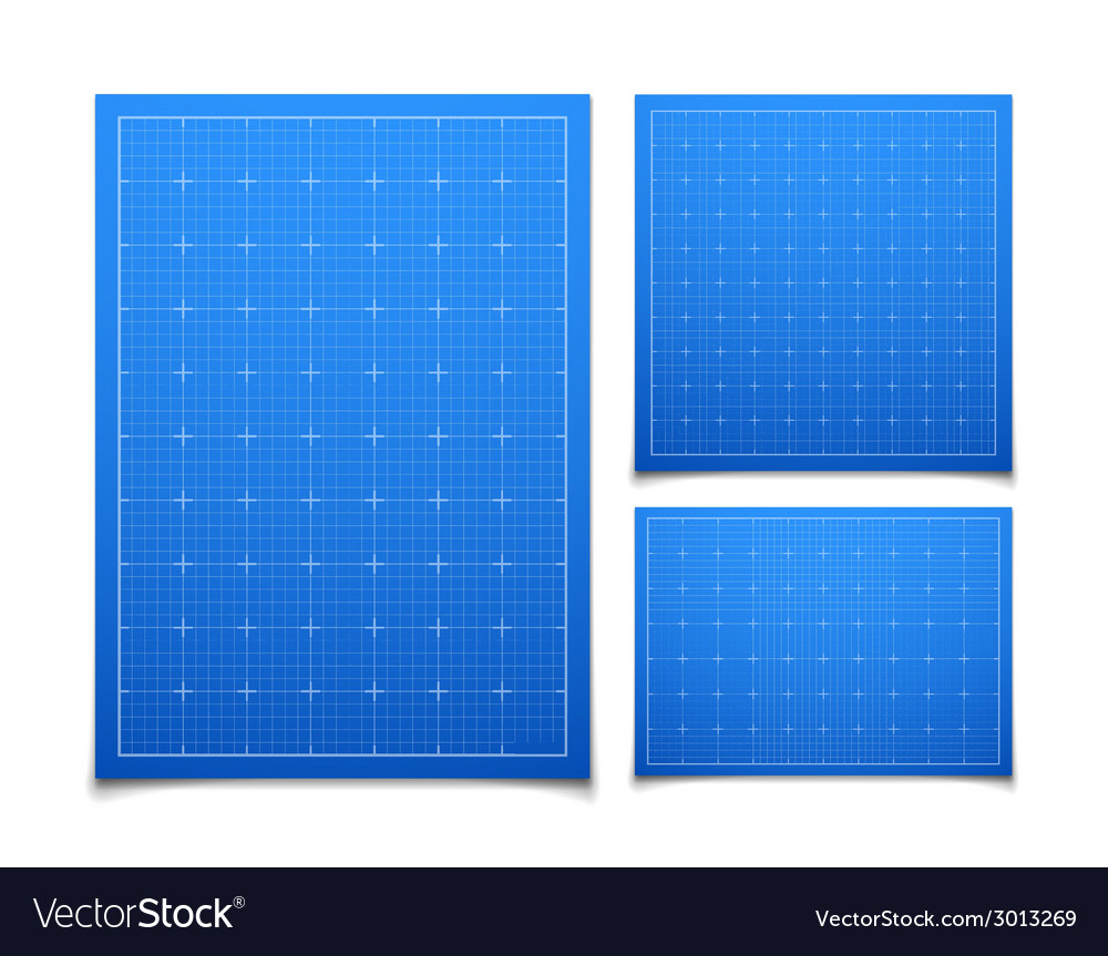 Blue isolated square grid set with shadow vector | Price: 1 Credit (USD $1)
