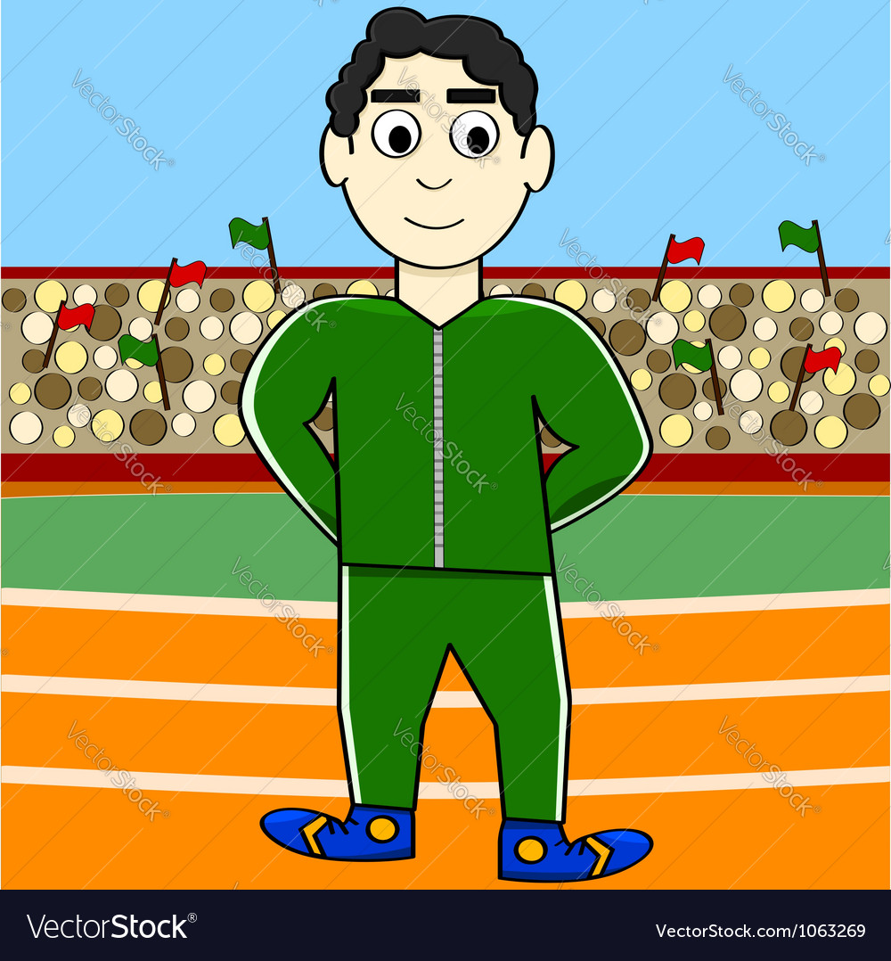 Cartoon athlete vector | Price: 1 Credit (USD $1)