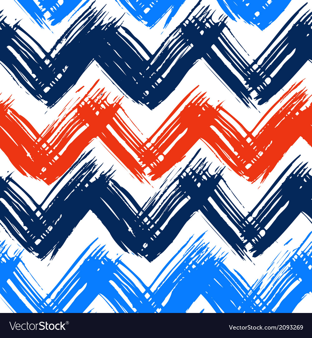 Chevron pattern hand painted with bold vector | Price: 1 Credit (USD $1)