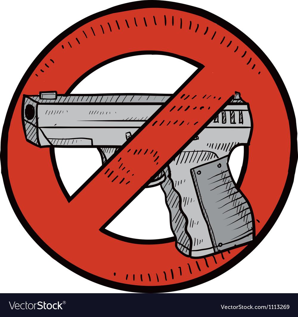 Doodle guns no color vector | Price: 1 Credit (USD $1)