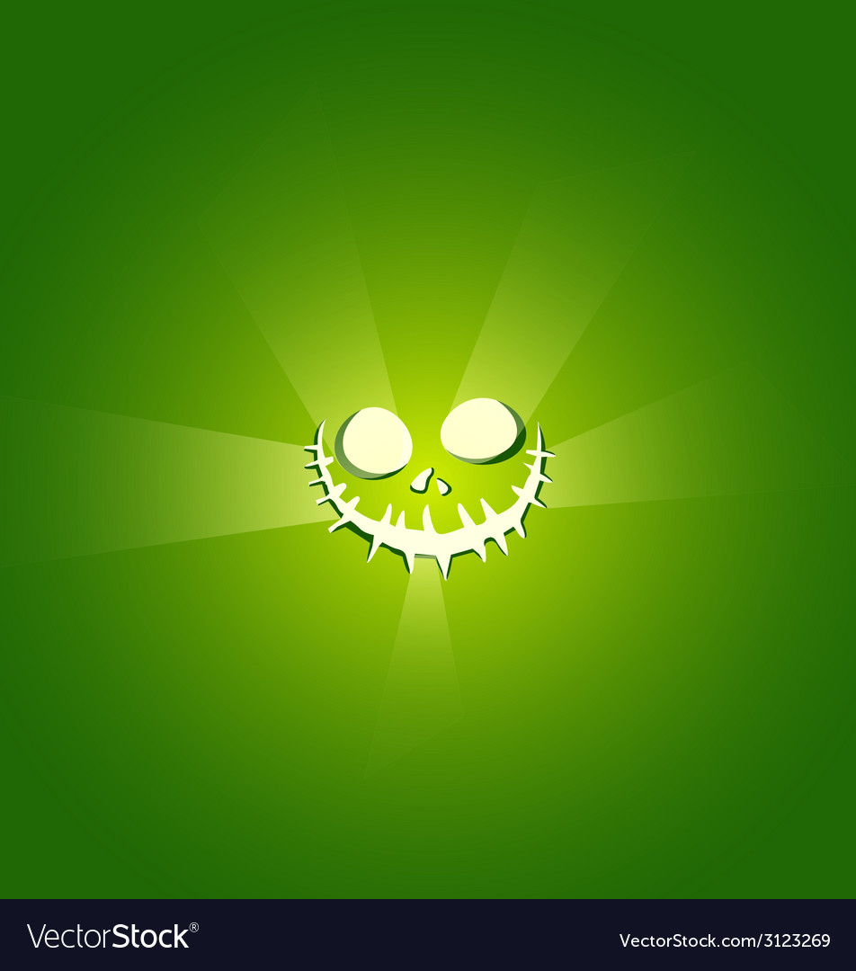 Face devil on green background vector | Price: 1 Credit (USD $1)
