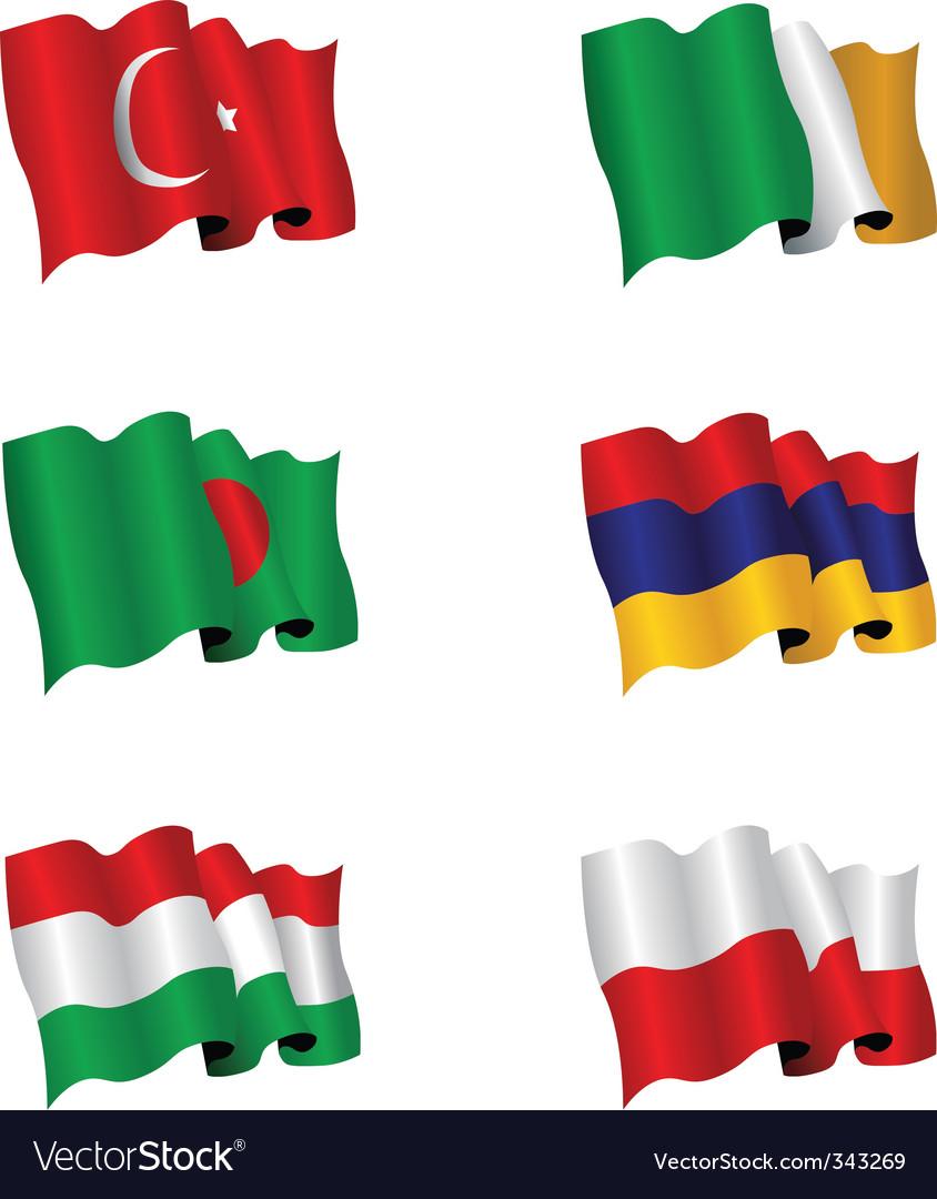 Flag set vector   Price: 1 Credit (USD $1)