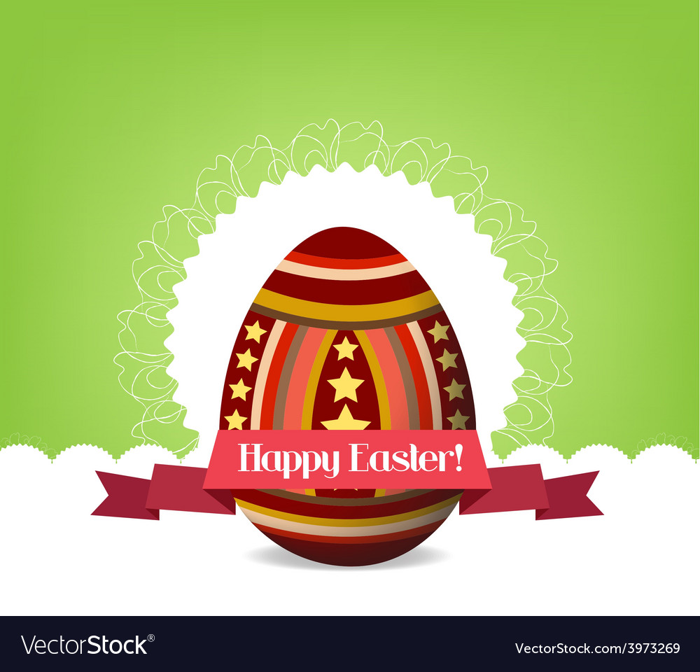 Happy easter with egg vector   Price: 1 Credit (USD $1)