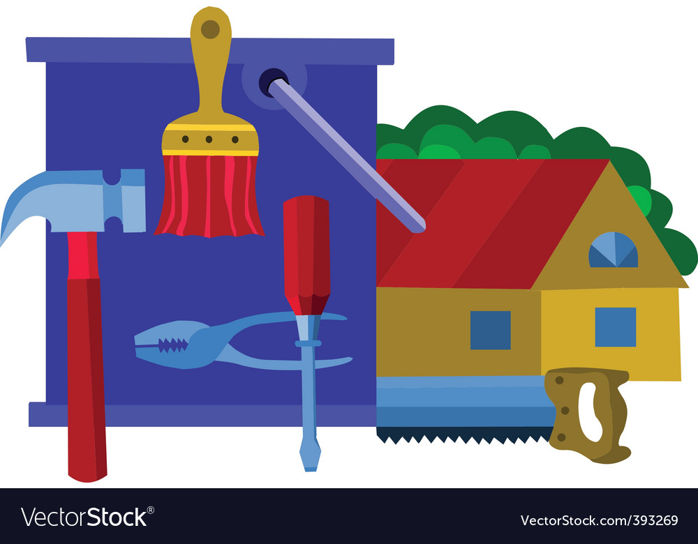 Home renovation vector | Price: 1 Credit (USD $1)