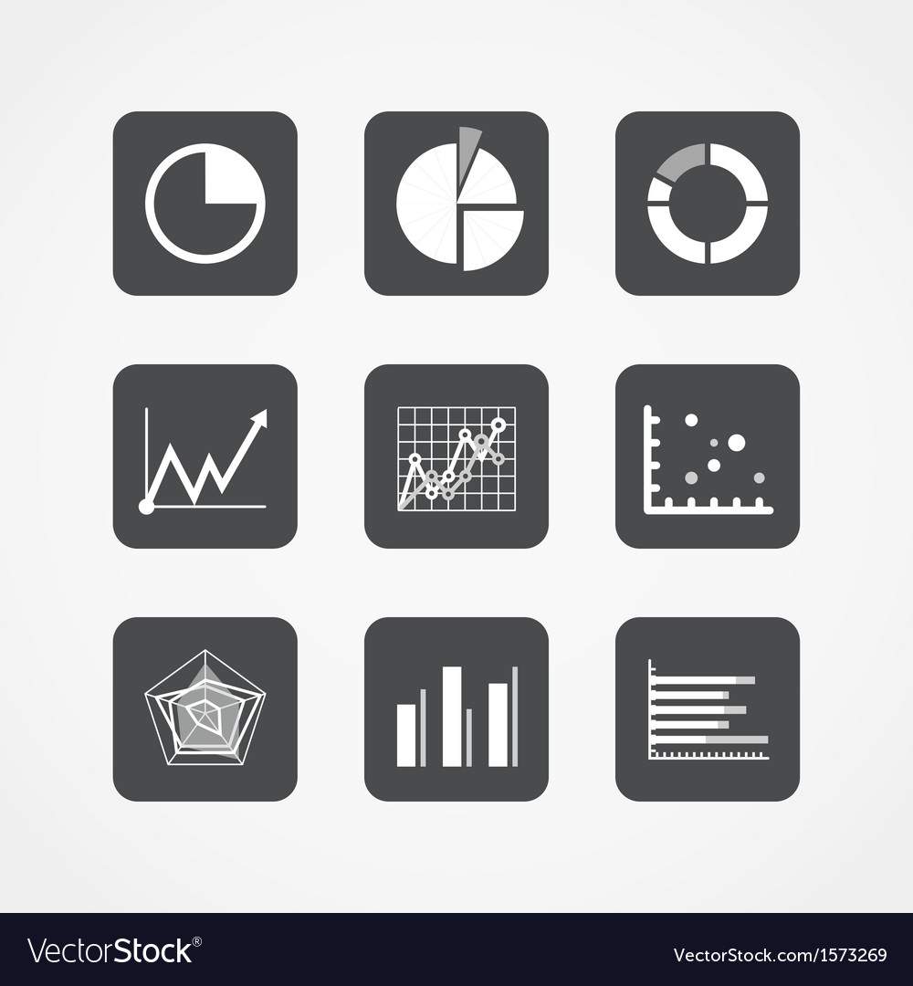 Information chart icons collection vector | Price: 1 Credit (USD $1)