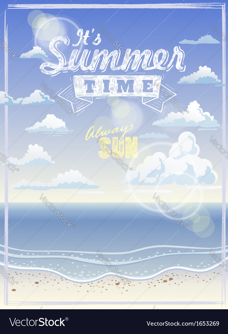 It summer time vector | Price: 1 Credit (USD $1)