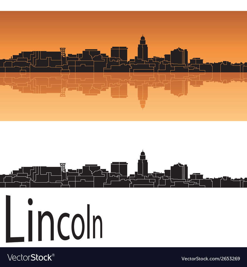 Lincoln skyline vector | Price: 1 Credit (USD $1)