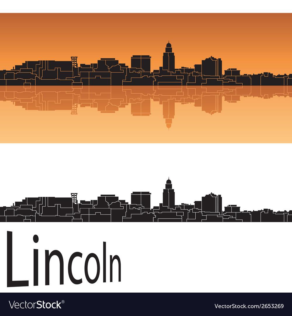 Lincoln skyline vector | Price: 1 Credit (USD $1)