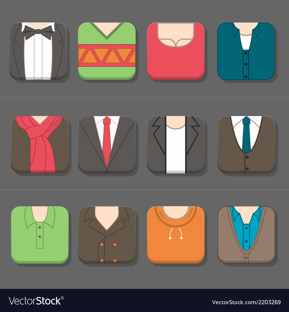 Mans clothing icon vector | Price: 1 Credit (USD $1)