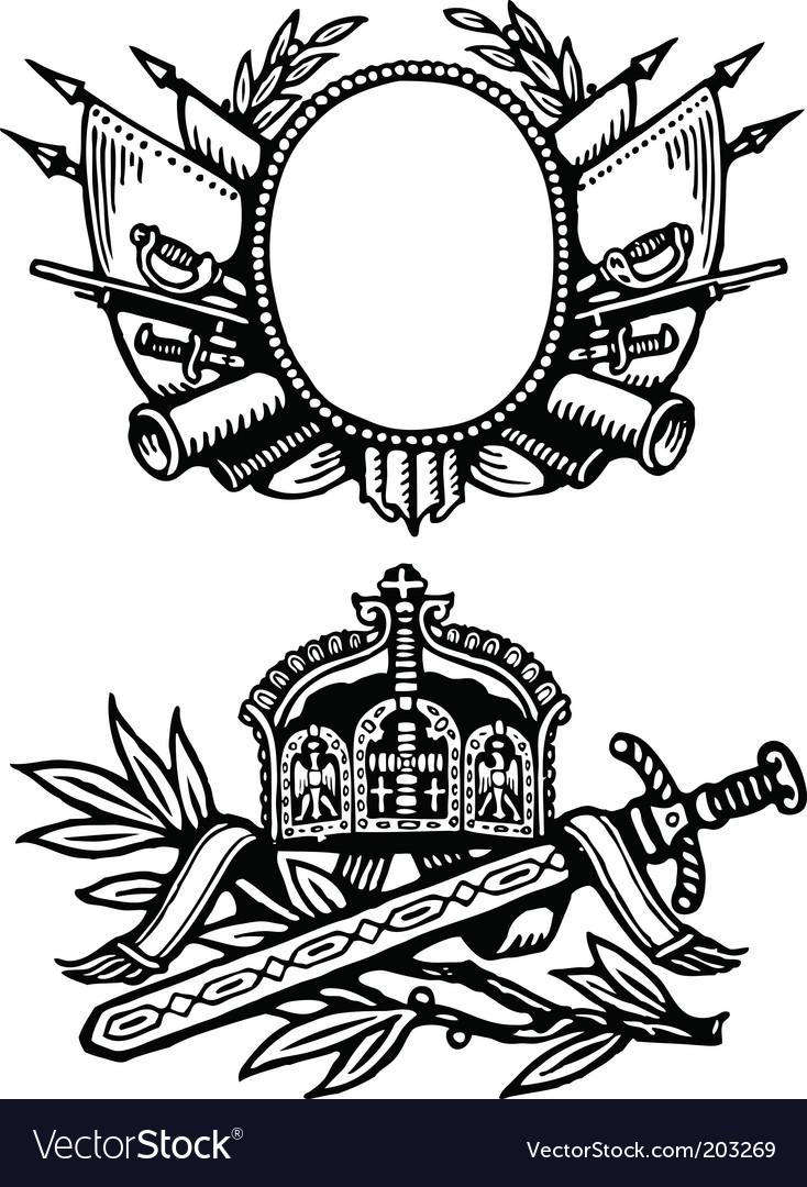 Medieval royalty ornaments vector | Price: 1 Credit (USD $1)