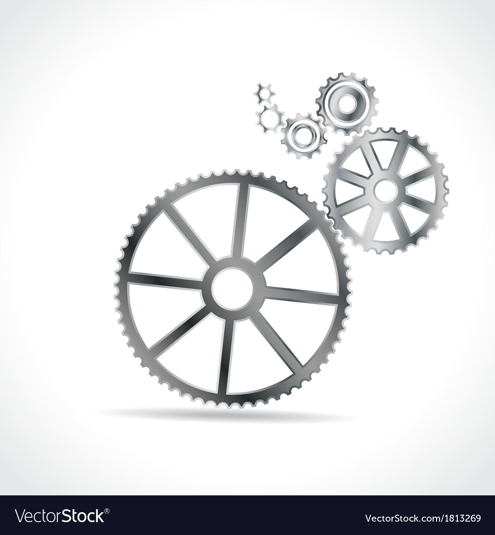 Metal cogs vector | Price: 1 Credit (USD $1)