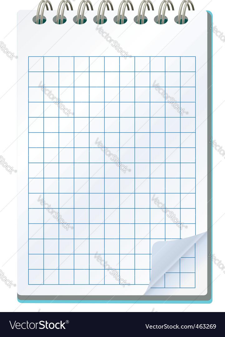 Notepad vector | Price: 1 Credit (USD $1)
