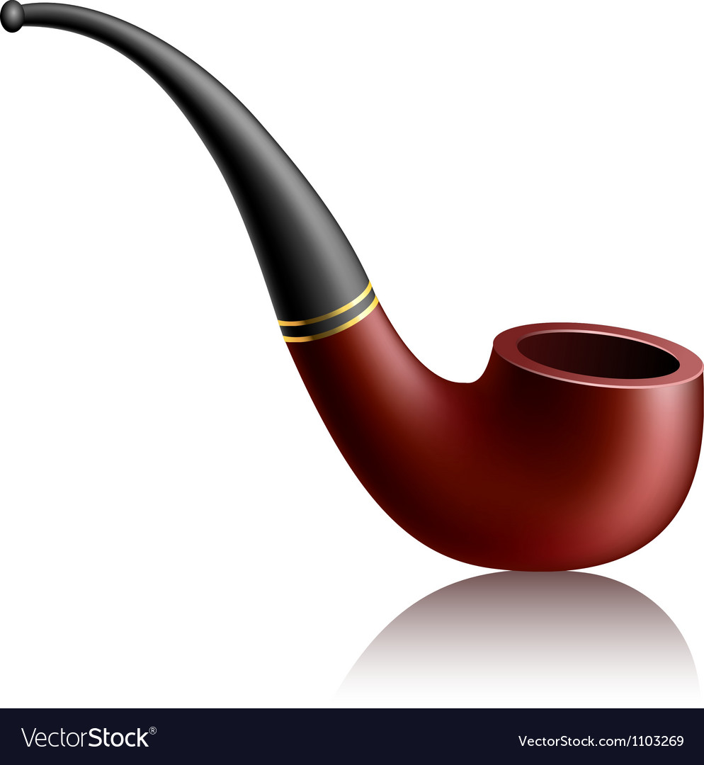 Realistic tobacco pipe vector | Price: 1 Credit (USD $1)