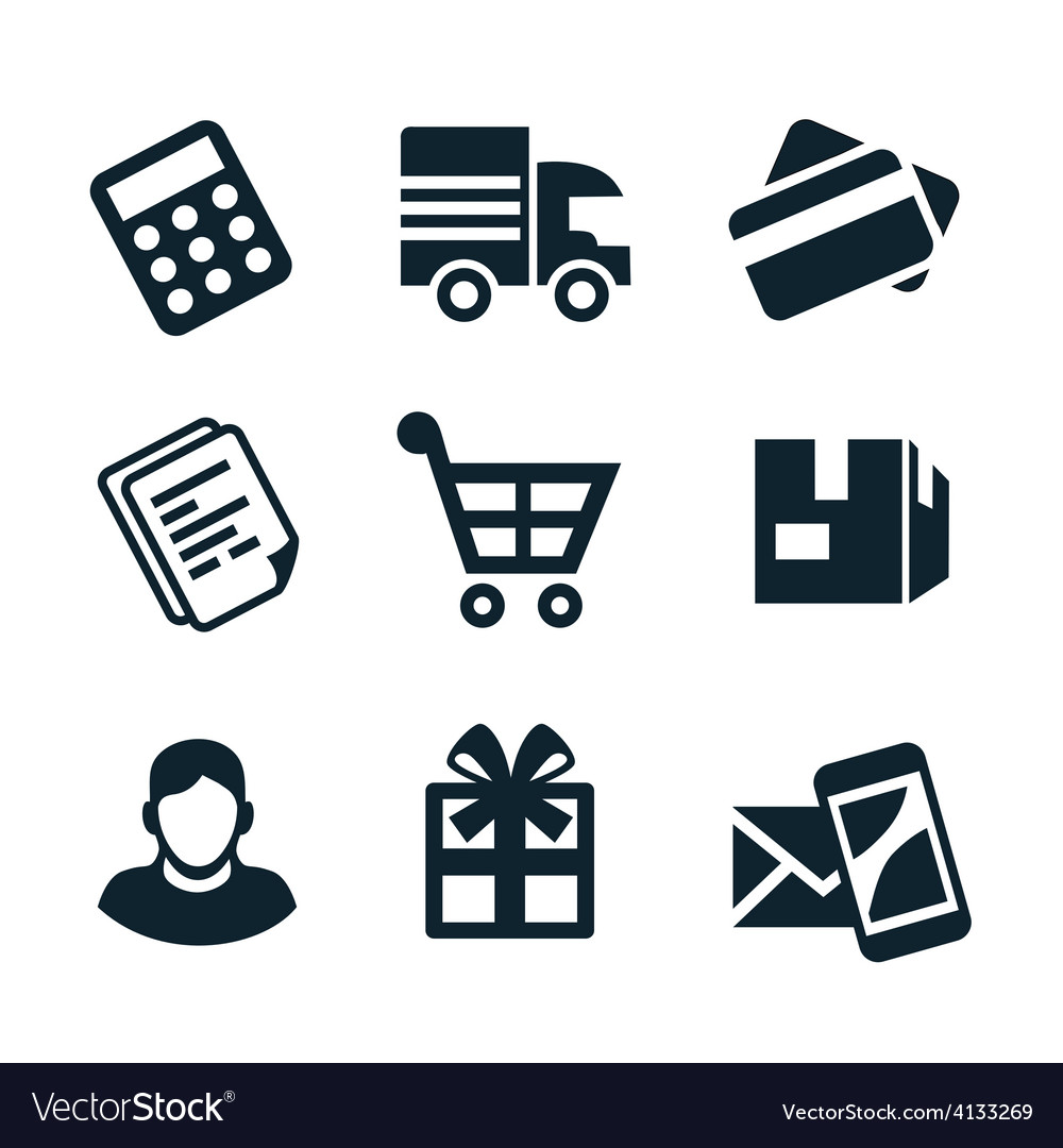 Shop icons vector | Price: 1 Credit (USD $1)