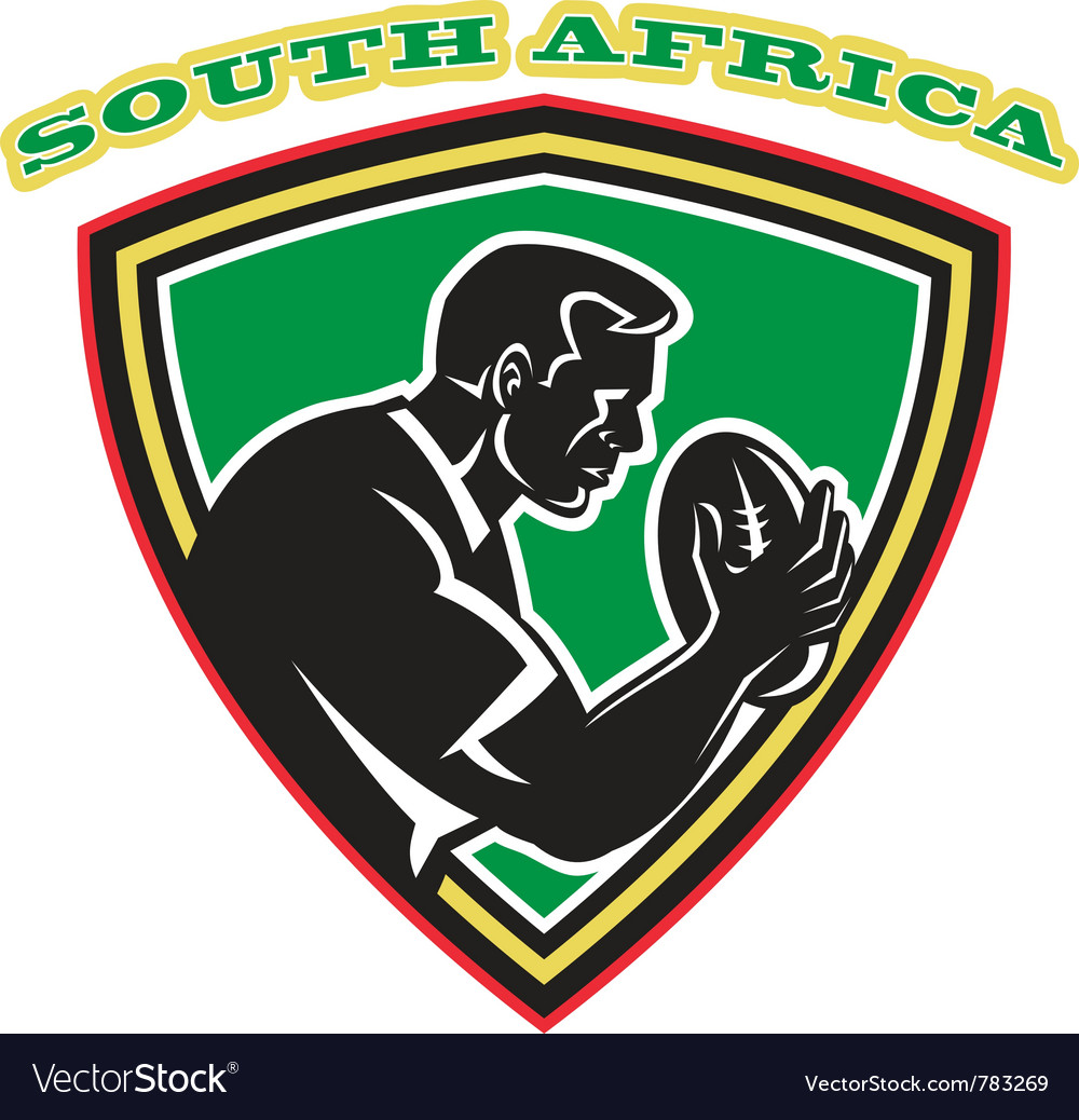 South africa rugby shield vector | Price: 1 Credit (USD $1)