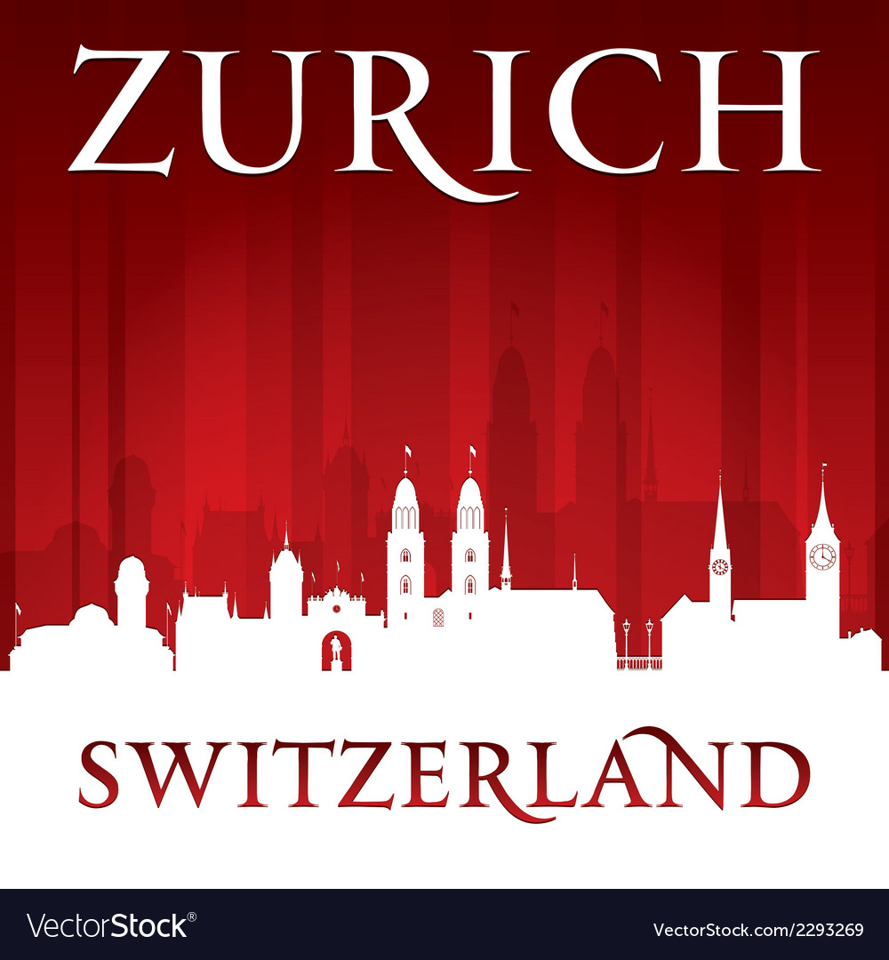 Zurich switzerland city skyline silhouette vector | Price: 1 Credit (USD $1)