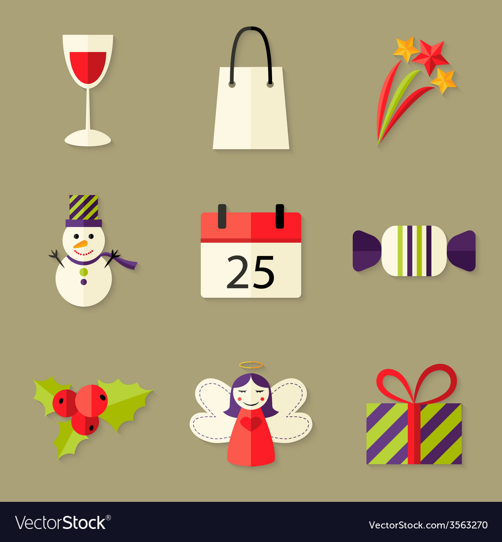 9 christmas icons set 5 vector   Price: 1 Credit (USD $1)