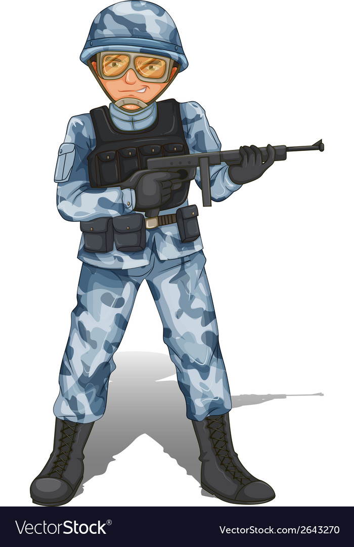 A brave soldier vector | Price: 1 Credit (USD $1)