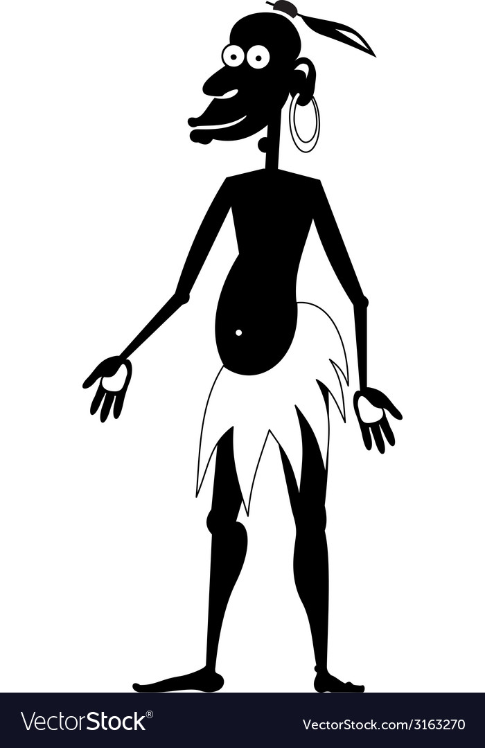 Aboriginal isolated bw vector | Price: 1 Credit (USD $1)