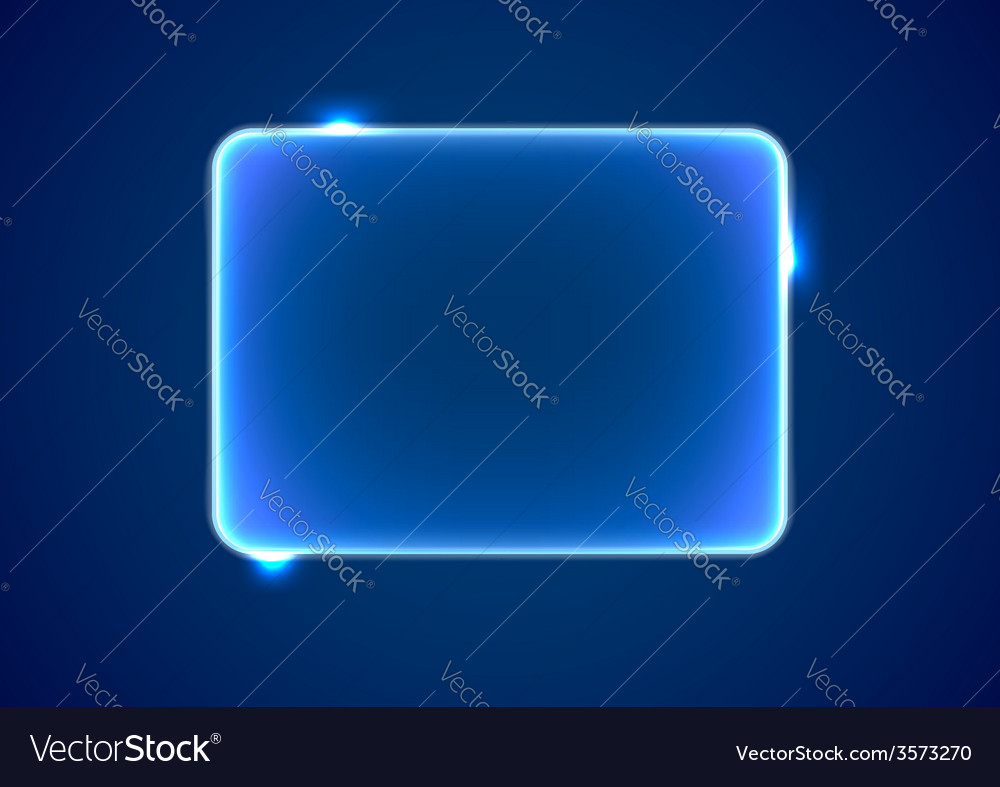 Abstract blue rectangle placeholder vector | Price: 1 Credit (USD $1)