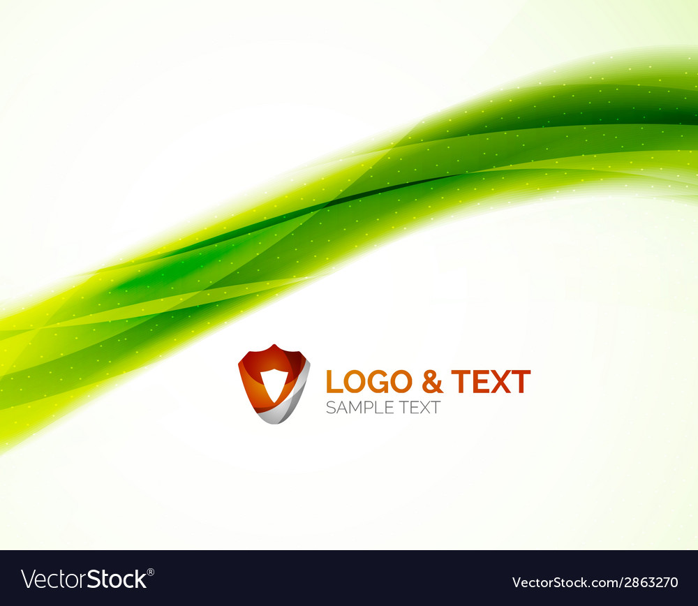 Abstract shiny blur wave green eco background vector | Price: 1 Credit (USD $1)