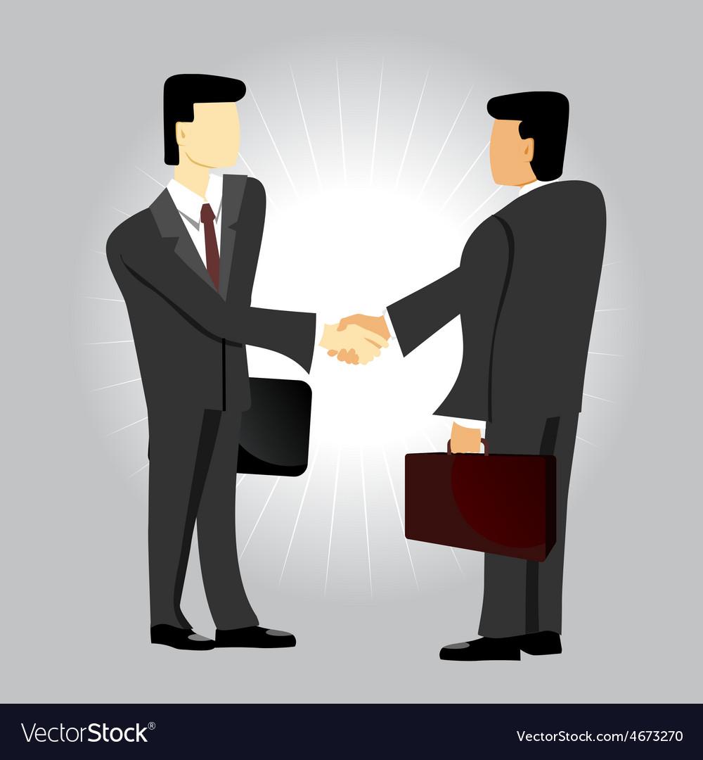 Business men shaking hands vector | Price: 1 Credit (USD $1)